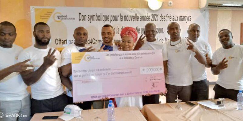 13 anciens détenus ont reçu le 29 décembre 2020 un don symbolique de 500 000 fcfa de la part de cette association de la diaspora pour les aider à célébrer les fêtes de fin d'année
