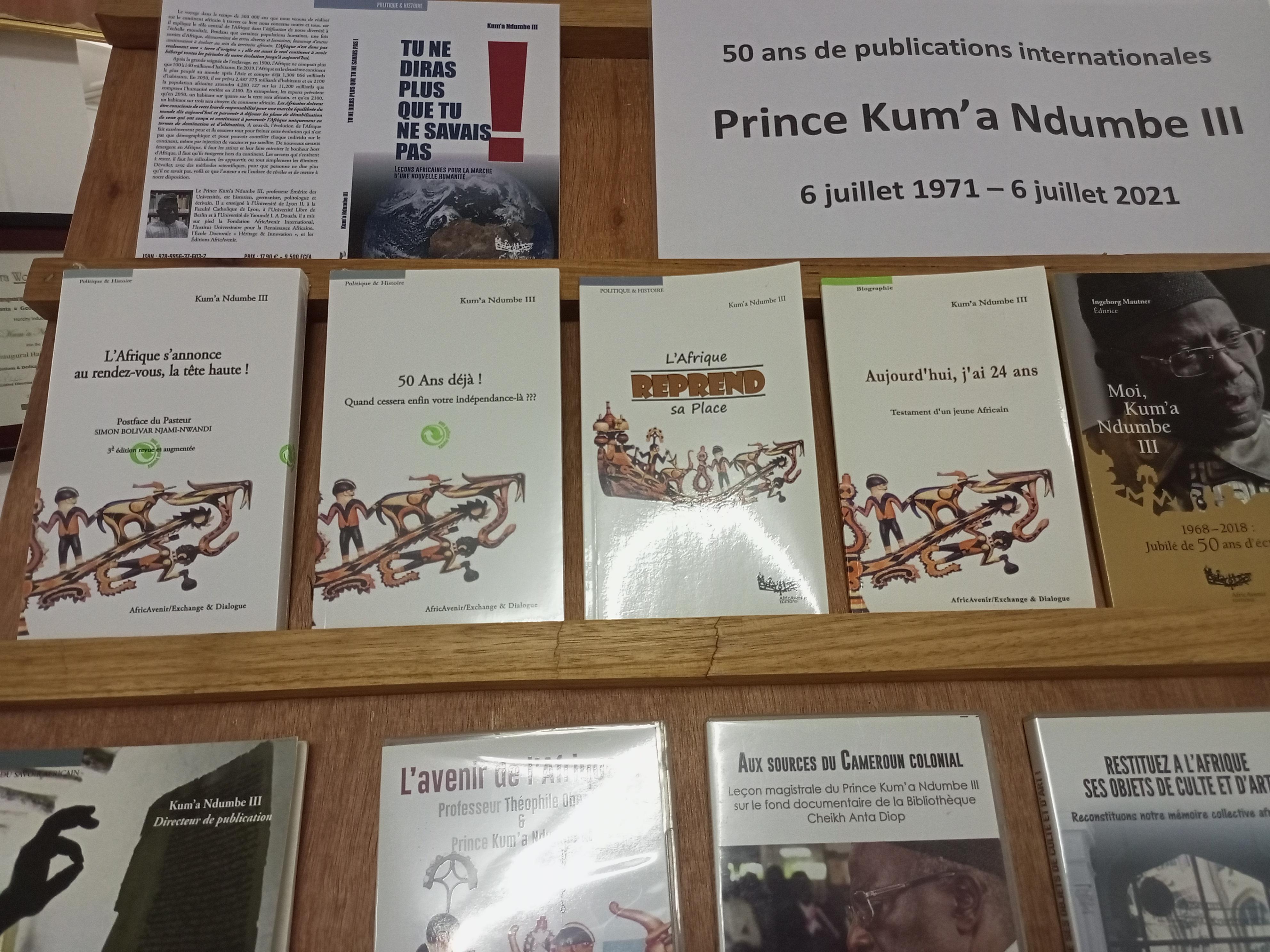 Kum'a Ndumbe III (6 juillet 1971 - 6 juillet 2021): 50 ans de publications internationales
