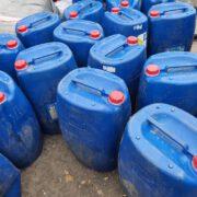 Plus de 1100 litres de peroxyde d'hydrogène, utilisé dans la fabrication des engins explosifs improvisés ont été saisis le 7 septembre 2021 par les éléments de la brigade commerciale